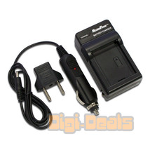 USB + Battery Charger for Casio NP-120 NP120 NP-120DBA  Wall + Car Adapter - $8.80