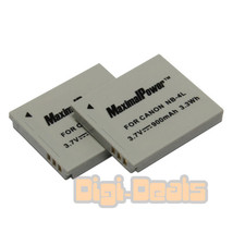 BATTERY x 2 for CANON NB-4L POWERSHOT SD30 SD40 SD300 SD400 Camera TWO B... - $9.59