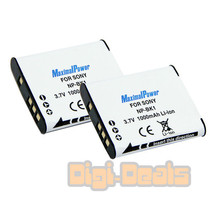 Battery X 2 For Sony Np Bk1 Cyber Shot Dsc W180 Dsc W190  Camera Two Batteries - $11.77
