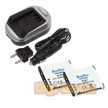 Charger + Two Camera Batteries Sony Np Bk1 Webbie Mhs Pm1 Mhs Cm5  Battery X2 - $16.82