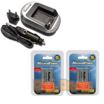 Charger + TWO Camera Batteries CANON NB-4L POWERSHOT SD30 SD40 900mAh BA... - $15.53