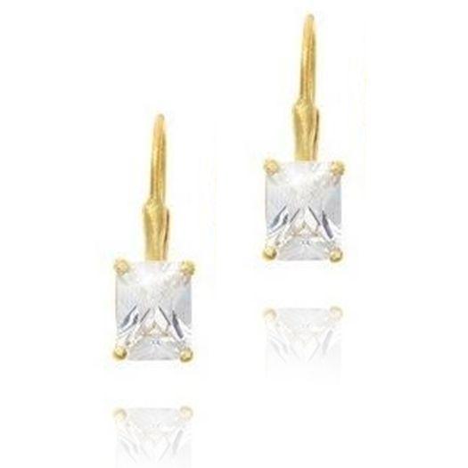 958f81b6c834 Emerald Cut Diamond Alternative Leverback and 50 similar items