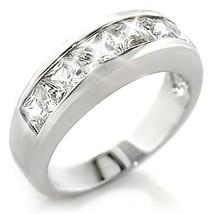 3 Carat Princess Channel Set Diamond Alternatives Ring 14k White Gold ov... - $49.99
