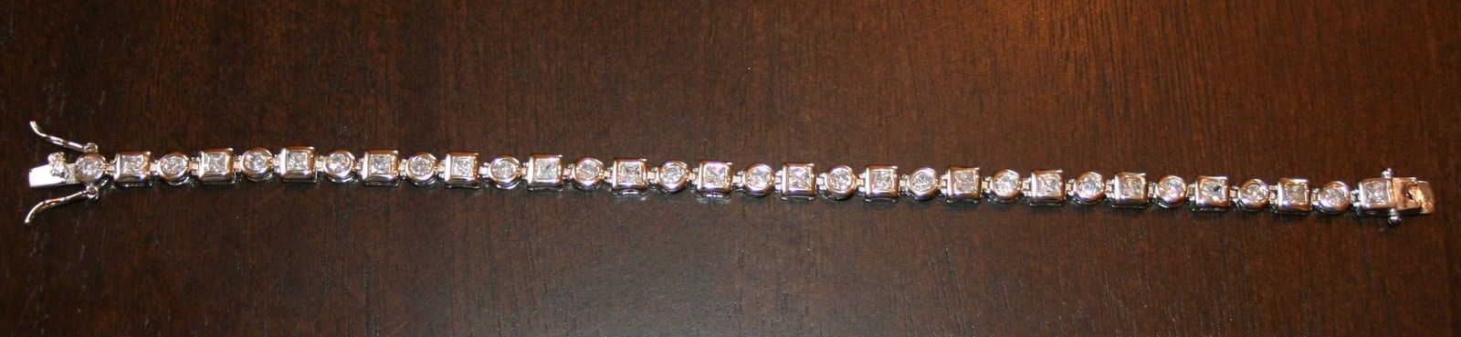 0.50ctw Genuine Diamond San Marco Design Bracelet 14k White Gold over 925 SS