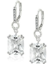 6.0ct Emerald Cut Diamond Alternatives Dangle Earrings 14k White Gold ov... - $24.49