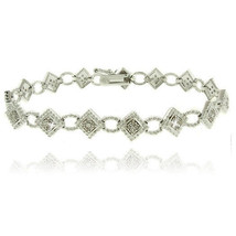 Real Genuine Natural Diamonds 0.50ctw Tennis Bracelet 14k White Gold ove... - $68.59