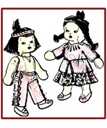 Vintage Pattern for American Indian Cloth Dolls - $5.99