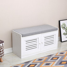 Four-grid Fabric Shoe Cabinet White - $101.62