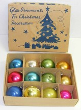 "Vintage 1-1/8"" to 1-3/8"" Mini Glass Christmas Ornaments - Japan #3B - $10.00"