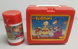 Vintage Plastic Lunchbox and Thermos The Flintstones - $24.74