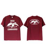 NEW Duck Dynasty Commander 1972 Logo T-Shirt 100% Cotton Burgandy Men Te... - $19.99