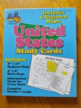 United States Study Cards & Maps with Teachers Guide Homeschool Geography - $12.99