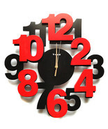 Wall Clocks Modern Design Decorative Clock Kitchen Contemporary Office N... - $68.00