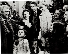 It's A Wonderful Life Jimmy Stewart Donna Reed 11X14 BW Movie Memorabilia Photo - $12.95