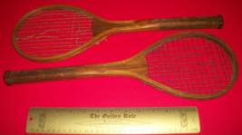 Sport Treasure Tennis Racquet Racket Sporting Good Pair Old Wood Equipment Decor - $379.99