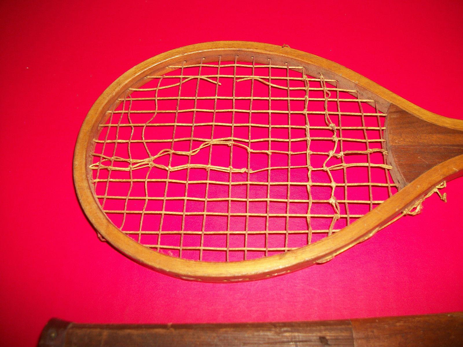 Sport Treasure Tennis Racquet Racket Sporting Good Pair Old Wood Equipment Decor image 3