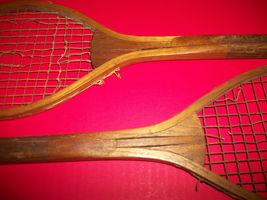 Sport Treasure Tennis Racquet Racket Sporting Good Pair Old Wood Equipment Decor image 6