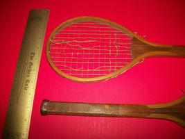 Sport Treasure Tennis Racquet Racket Sporting Good Pair Old Wood Equipment Decor image 9
