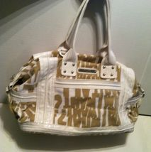 Guess White and Brown Satchel Shoulder Purse - $15.00