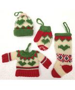 Christmas Ornaments Christmas Decoration Knit Sweater Hat Mitten Stockin... - $19.99