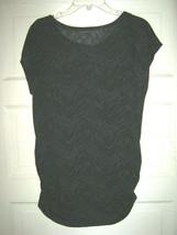 Sharagamo Studio black camo stripe sheer tee shirt cover top with cami S... - $16.72