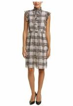Anne Klein Women's Printed Georgette Flutter Sleeve Dress BATON COMBO SI... - $34.65
