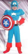 CAPTAIN AMERICA COSTUME CHILD'S HUSKY 10/12 - $45.00