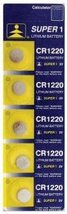 5 of CR1220 Lithium Button Cell Watch Battery - $2.87
