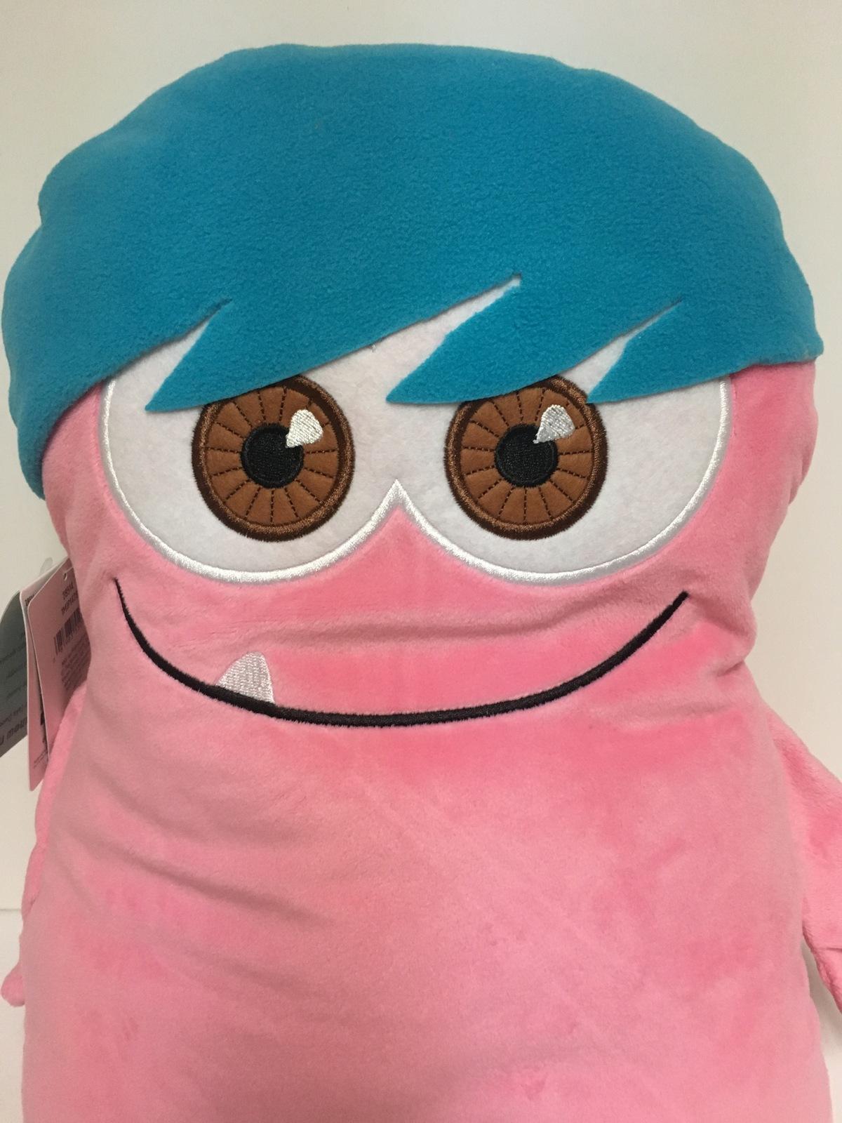"""Hallmark Dweeber (Dweebs) Plush Pillow 17"""" x 13"""" Pink & Blue I AM U-NEEK"""