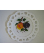 Vintage Lace Edge Salad Plate - Gay Fad Fruit Pattern, Anchor Hocking, 1... - $10.00