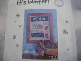 Winter Cross Stitch Sampler Kit: Comes with Fabric, Floss & Directions - $5.00