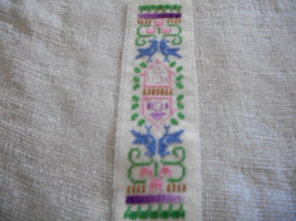 Cross Stitched Birds Bookmark - $30.00