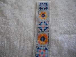 Cross Stitched Quilt Motif Bookmark - $30.00