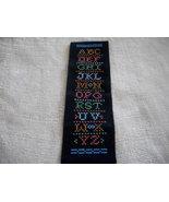 Black Cross Stitched Alphabet Bookmark - $30.00