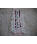 Floral Cross Stitch Bookmark - $15.00