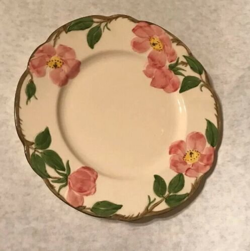 """4 Vintage Franciscan Desert Rose 7 5/8"""" Salad Plate Arch Mark California image 6"""