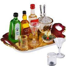 Top Shelf Liquor Tray Set 1.854/6 Reutter Porcelain Dollhouse Miniature - $49.40