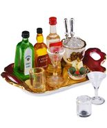 Dollhouse Top Shelf Liquor Tray Set 1.854/6 Reutter Porcelain Miniature - $49.40