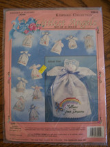Fabric Angel Craft Kit: Contains Floss, Ribbon, Lace, Needle & Directions - $16.00