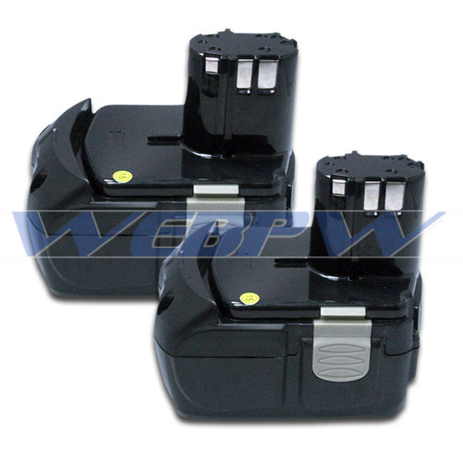 TWO Power Tool Batteries For HITACHI 18V Li-ion BCL1815 EBM 1830 Battery x2
