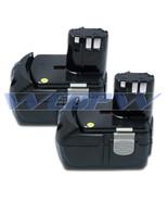 TWO Power Tool Batteries For HITACHI 18V Li-ion BCL1815 EBM 1830 Battery x2 - $118.69