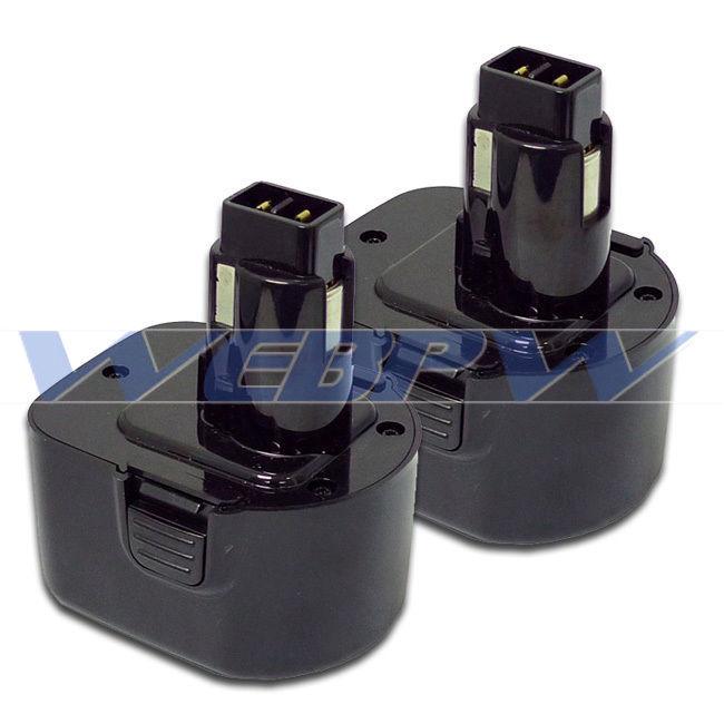 TWO Power Tool Batteries For DEWALT 12V 152250-27 397745-01 NiCD Battery x 2