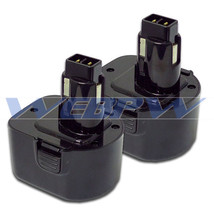 TWO Power Tool Batteries For DEWALT 12V 152250-27 397745-01 NiCD Battery x 2 image 1