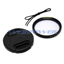 52mm Front Lens Cap Cover + UV Filter Combo for Canon Nikon Olympus Sony Camera - $7.81