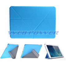 BLUE PU Leather Folio Stand Ultra Slim Cover Case for APPLE iPad Air iPad 5 - $9.79