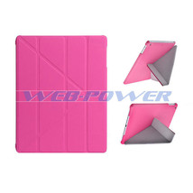 PINK PU Leather Folio Stand Ultra Slim Cover Case for APPLE iPad Air iPad 5 - $9.79