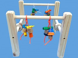 Cage Top Bird Play Gym For Conures,senegals,etc. Cage Top Play Perch - £14.50 GBP+