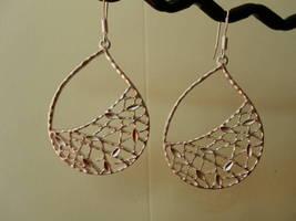 NETTLE TEARDROP WHITE GOLD Earrings - $19.01