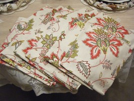 SET OF 12 RIDGEFIELD HOME NAPKINS NEW COTTON FLORAL - $21.77