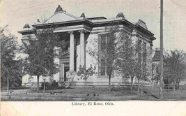 Library El Reno Oklahoma 1905c postcard - $6.93